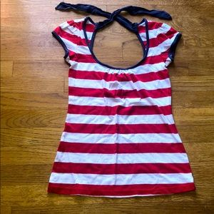 (2 for $6) red white and blue top